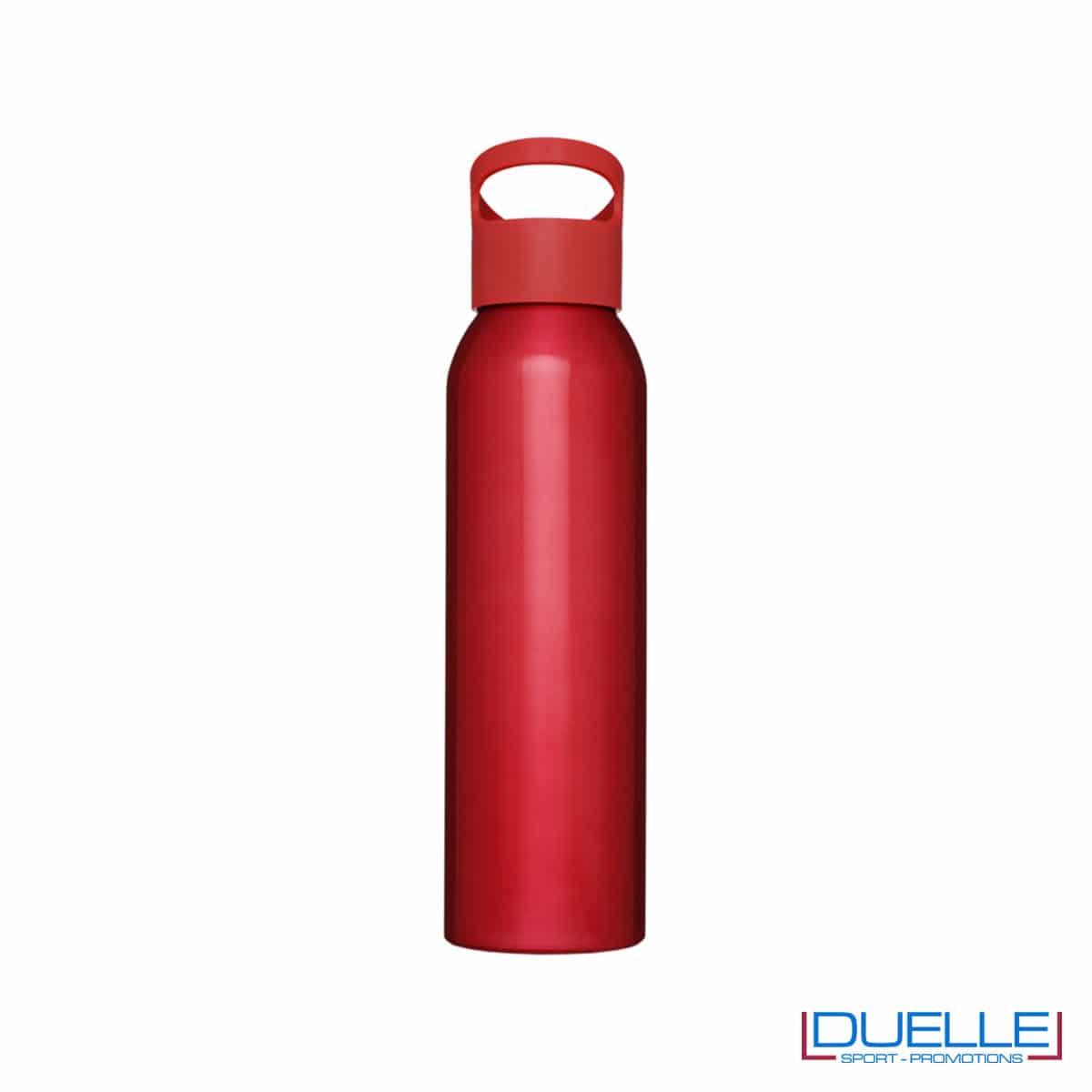 Borraccia alluminio colore rosso con tappo in plastica