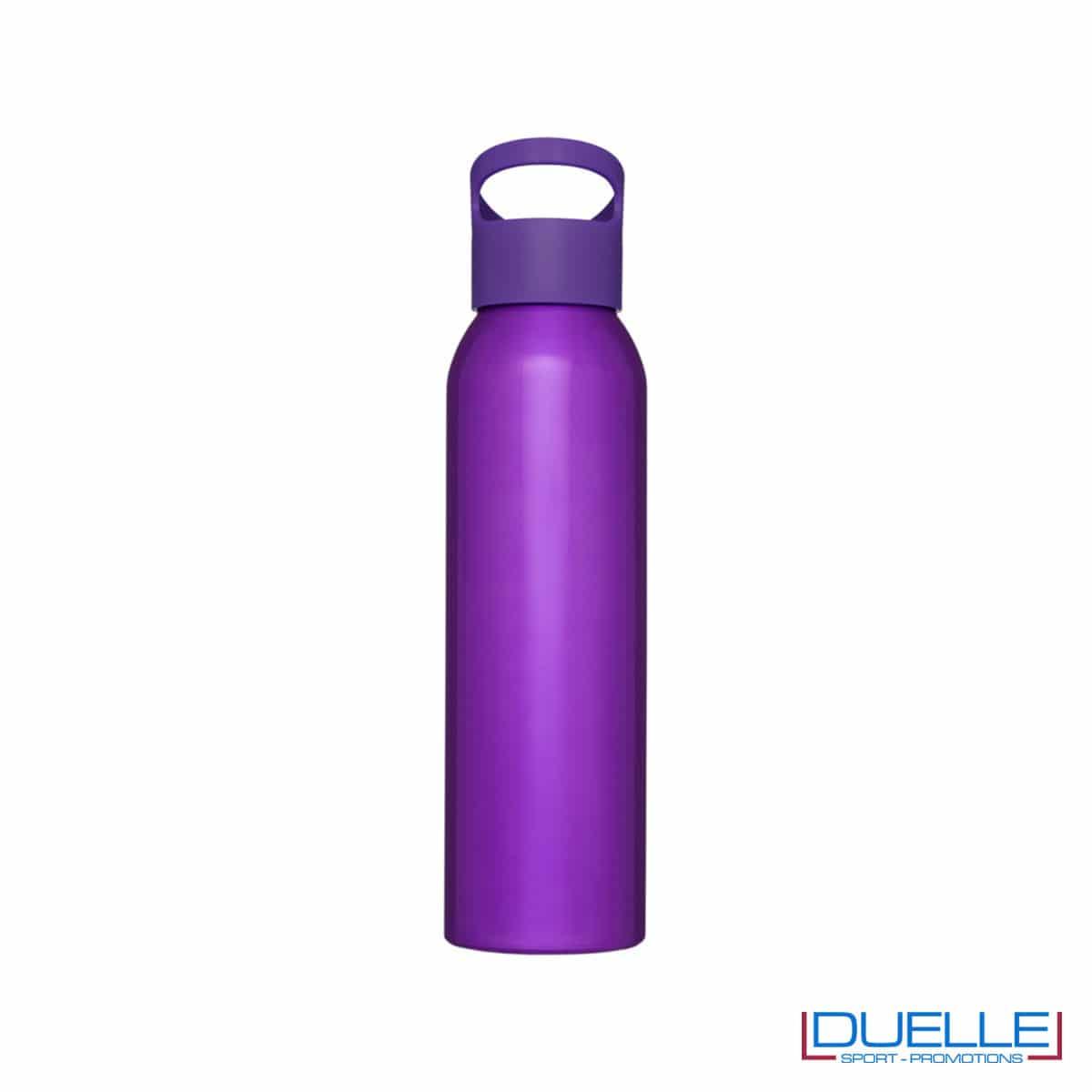Borraccia alluminio colore viola con tappo in plastica