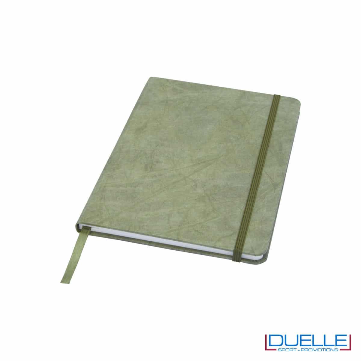 Blocco appunti in carta di pietra colore verde personalizzato