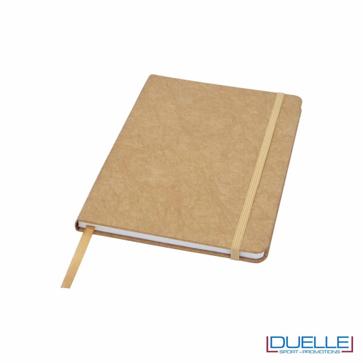 Blocco appunti in carta di pietra colore marrone personalizzato