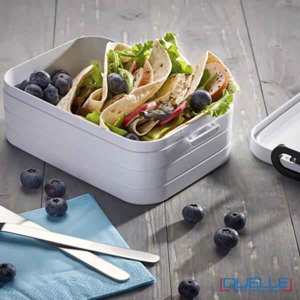 Contenitore porta pranzo Mepal colore bianco con il tuo logo