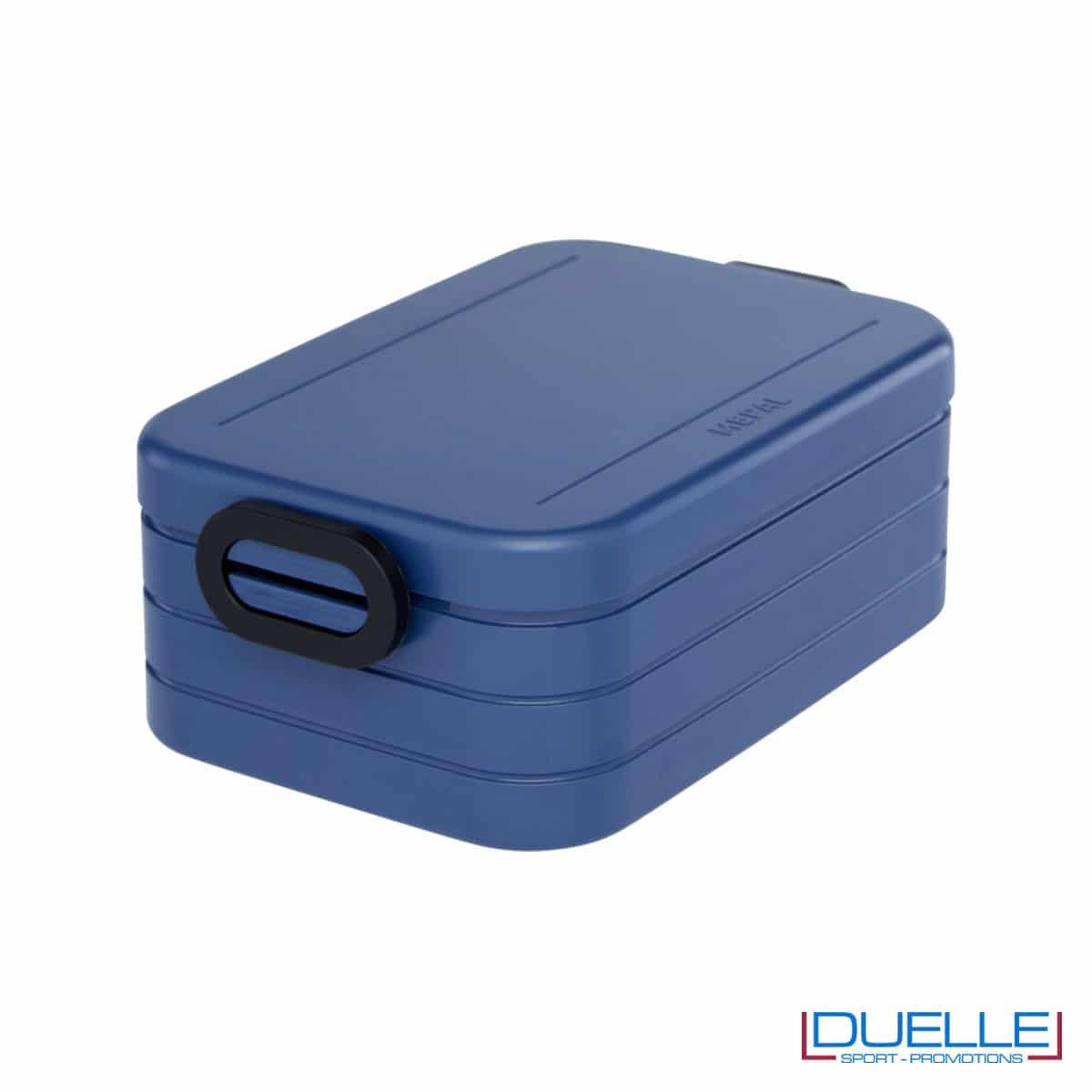 Contenitore porta pranzo Mepal colore blu personalizzato