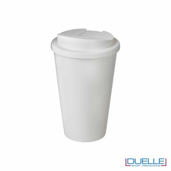 Bicchiere termico con superficie antibatterica colore bianco