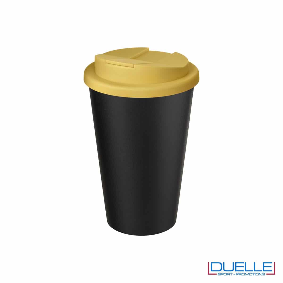 Tazza termica ecologica personalizzata tappo giallo