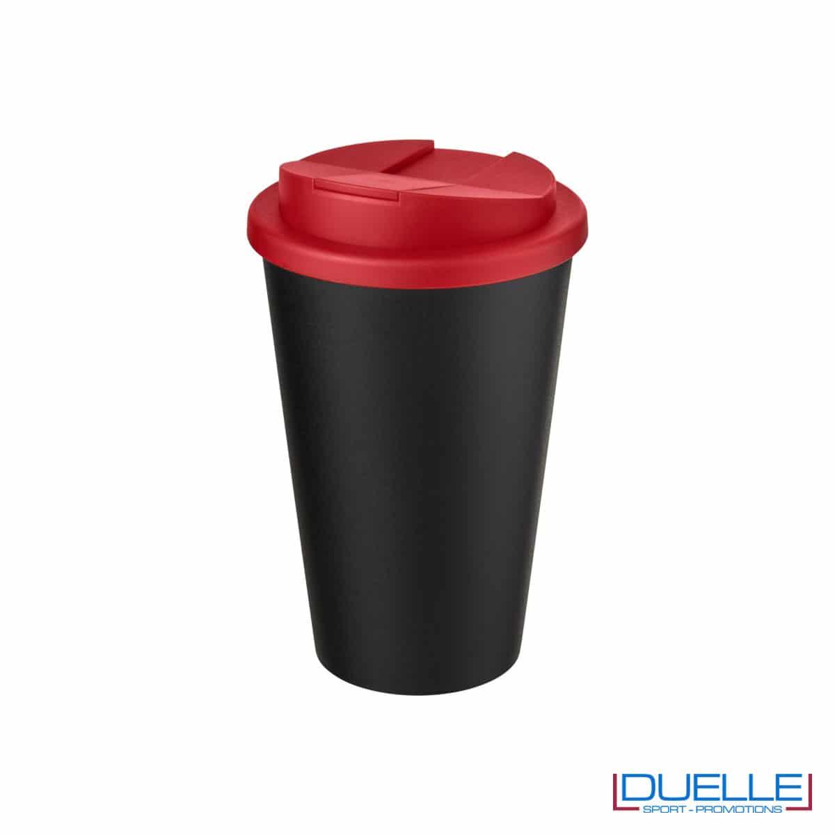 Tazza termica ecologica personalizzata tappo rosso