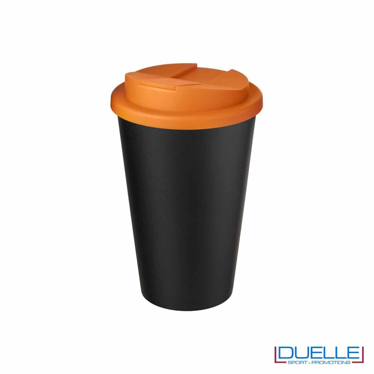 Tazza termica ecologica personalizzata tappo arancione
