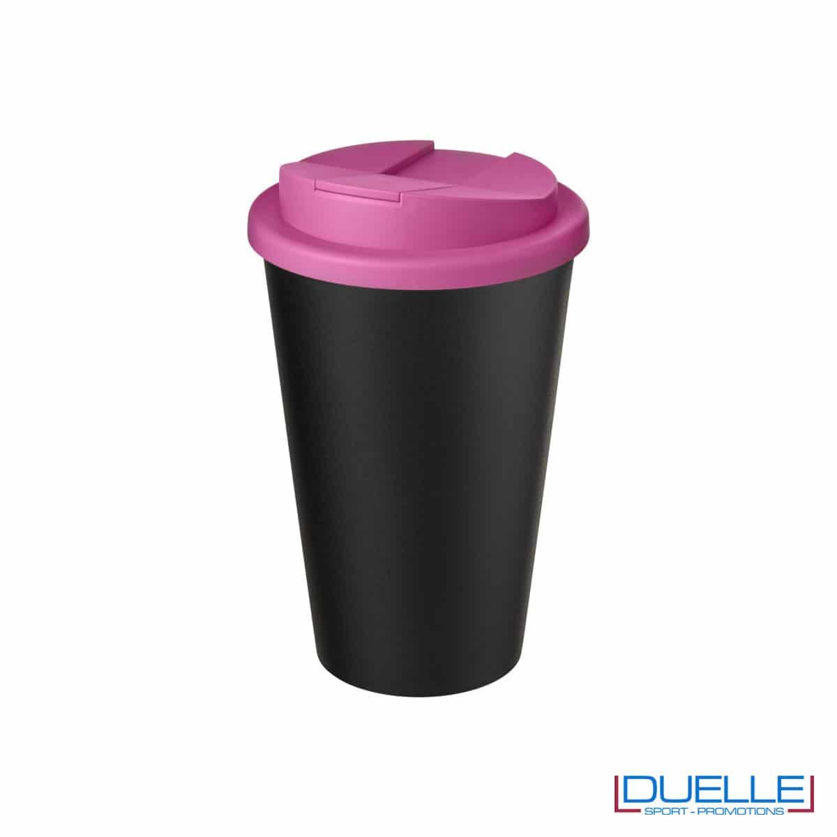 Tazza termica ecologica personalizzata tappo rosa