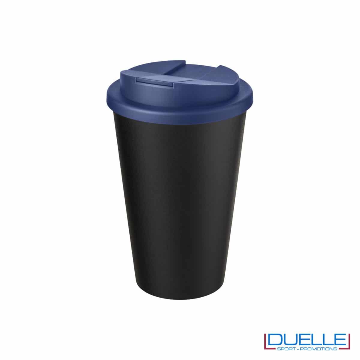Tazza termica ecologica personalizzata tappo blu