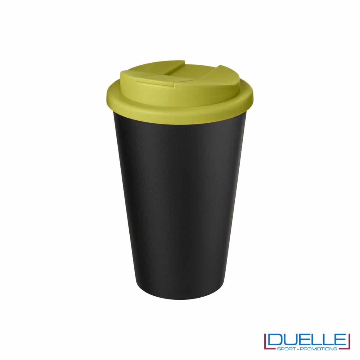 Tazza termica ecologica personalizzata tappo verde lime