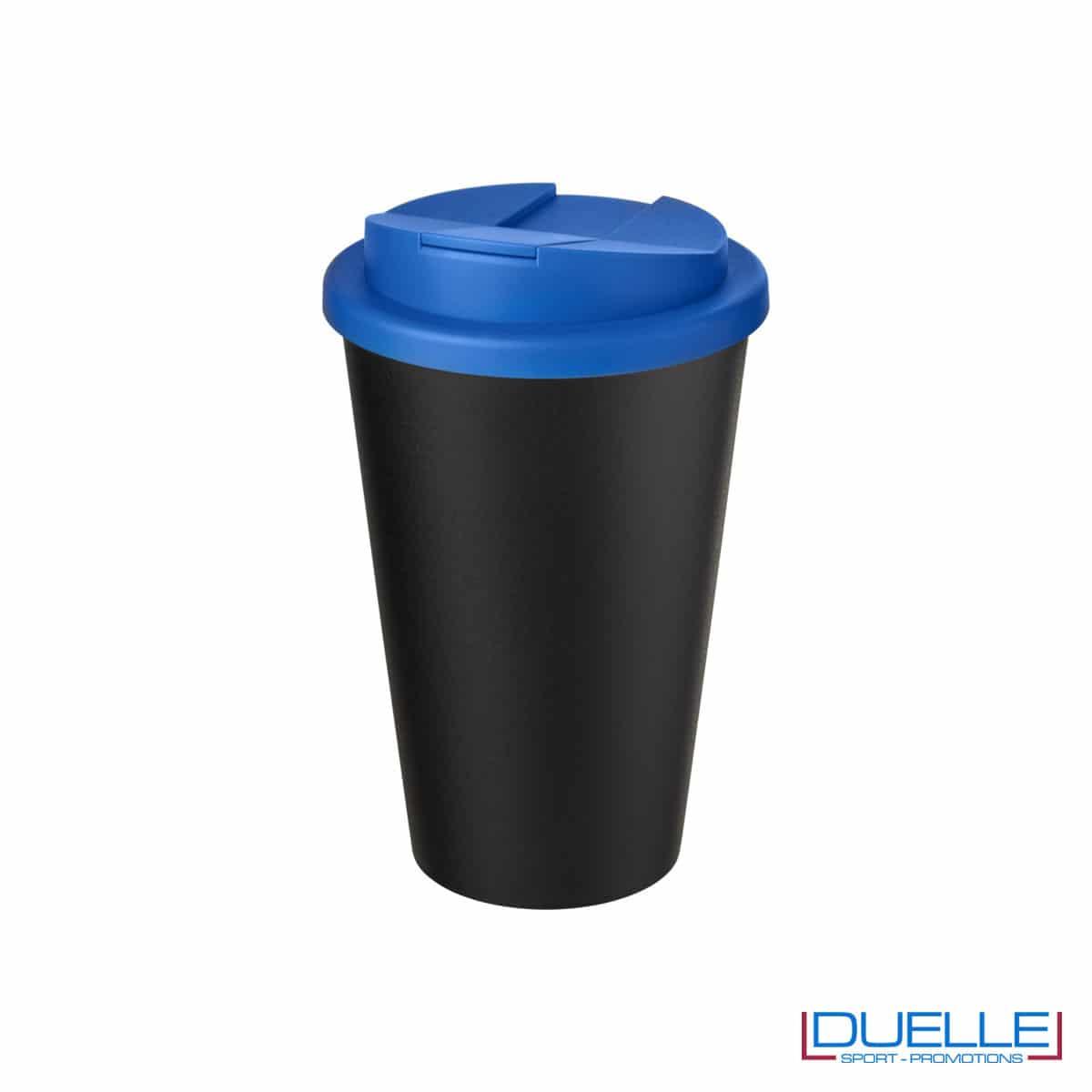 Tazza termica ecologica personalizzata tappo blu royal
