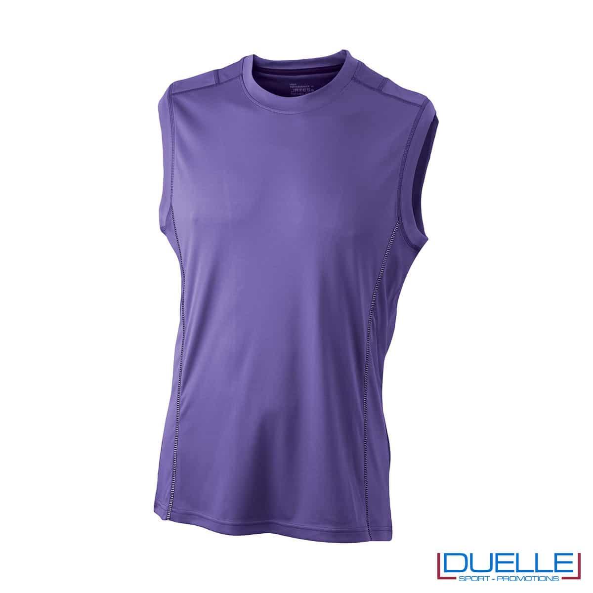 Canotta running uomo colore viola personalizzabile