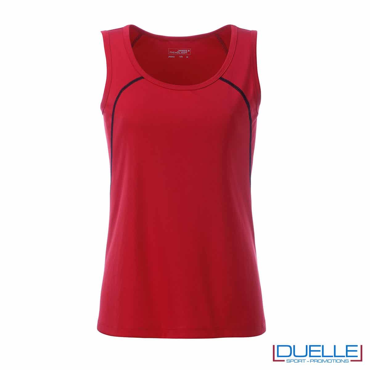 Canotta donna sport traspirante colore rosso