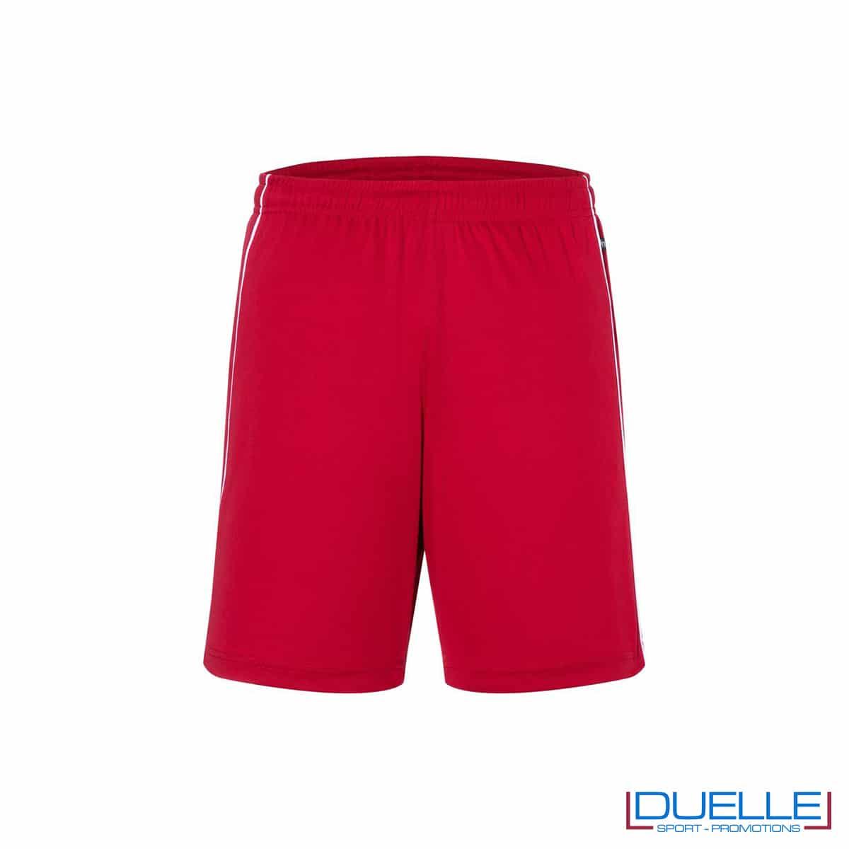 Pantaloncino calcio colore rosso promozionale