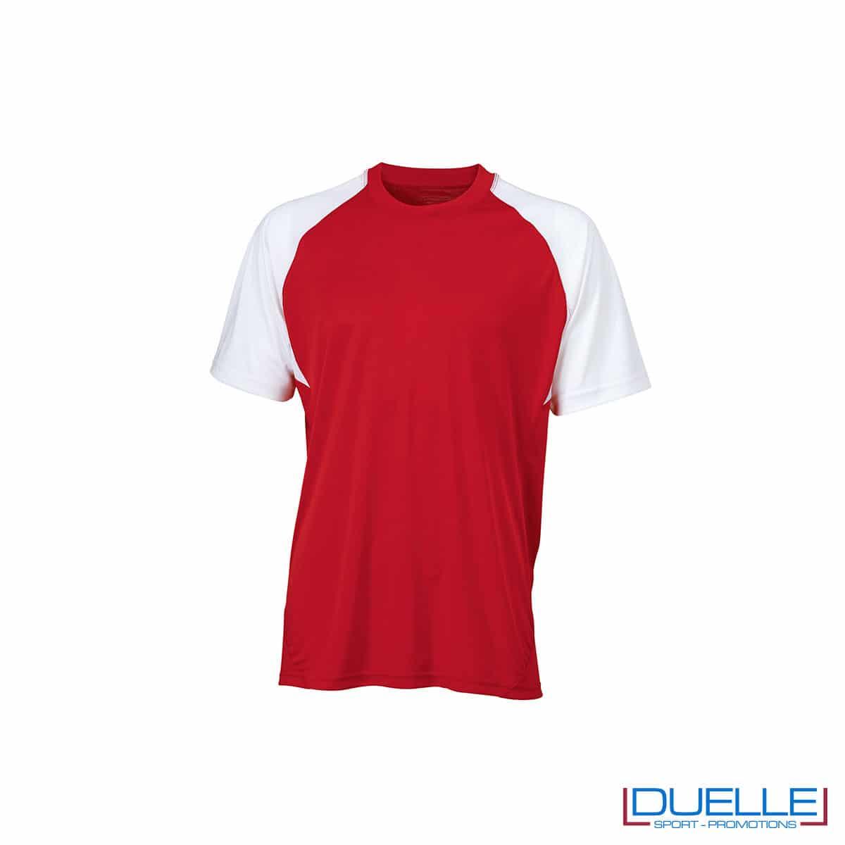 Maglietta calcio personalizzabile colore rosso-bianco