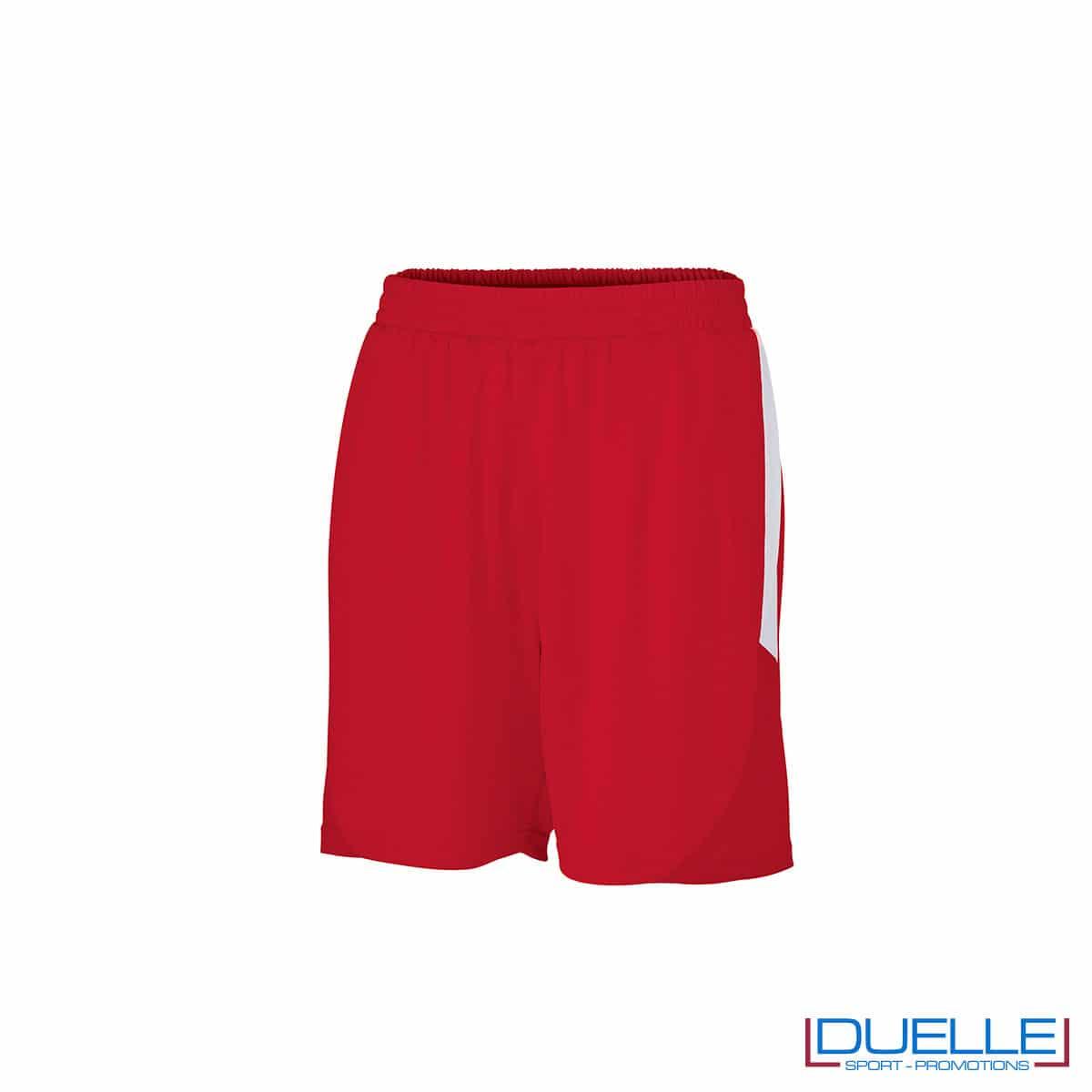 Pantaloncini calcio colore rosso-bianco personalizzati