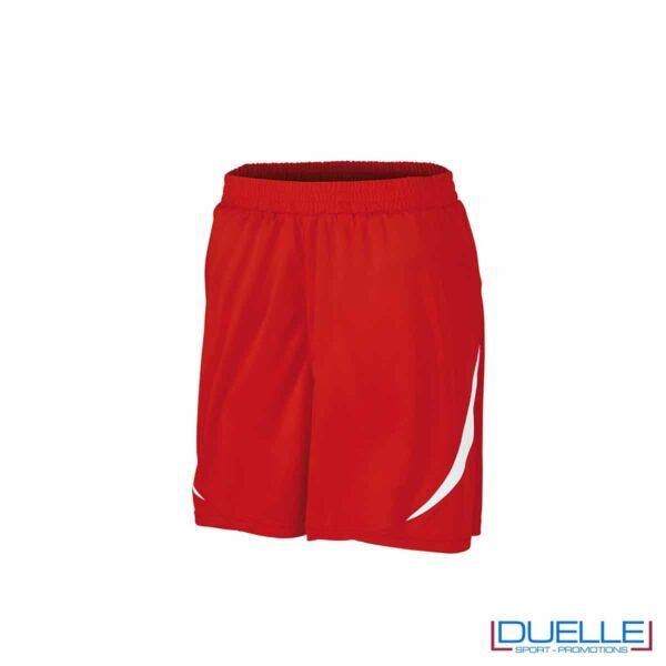 Pantaloncini da calcio colore rosso-bianco personalizzati