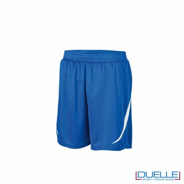 Pantaloncini da calcio colore blu royal-bianco personalizzati