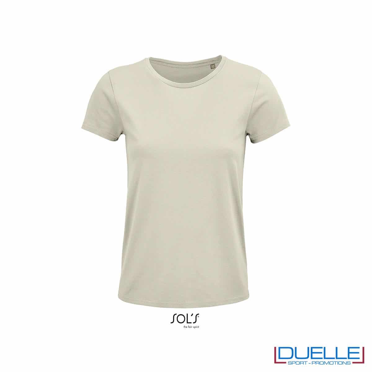 maglietta donna naturale girocollo