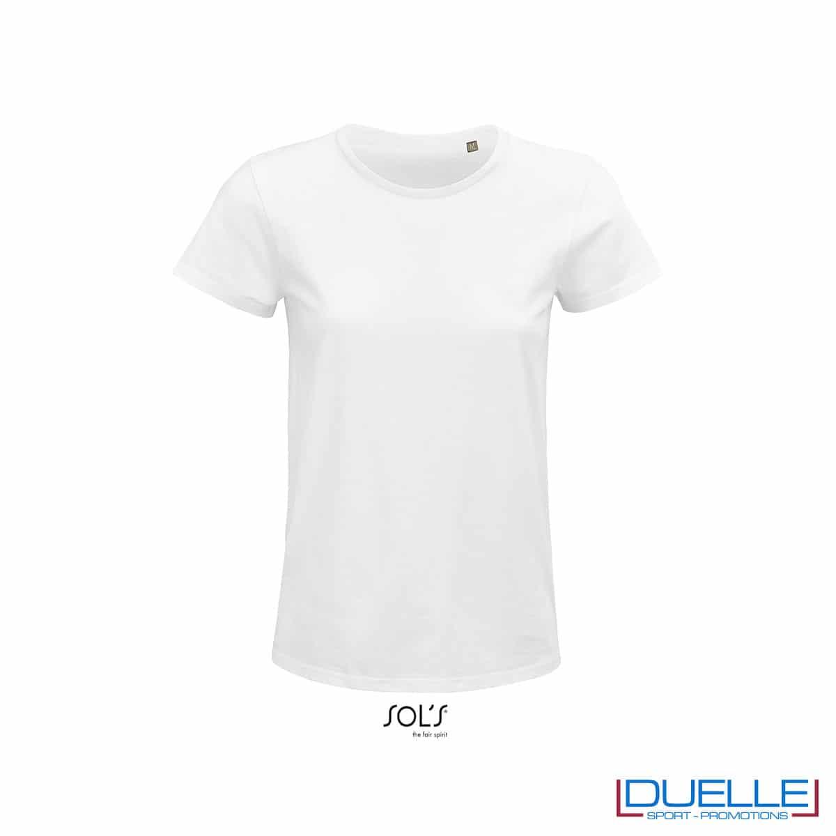 maglia bianca donna girocollo
