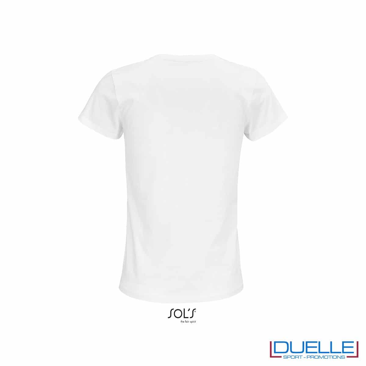 retro maglietta donna colore bianco girocollo