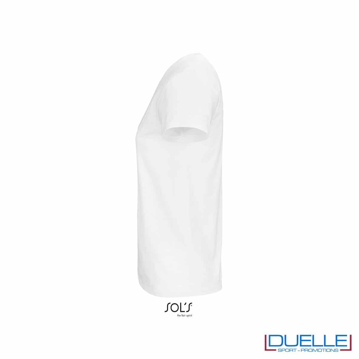 lato maglia bianca da donna 100% cotone