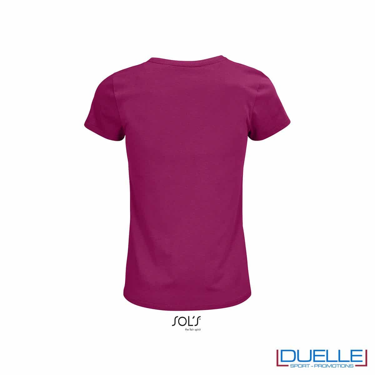 maglietta donna girocollo viola back