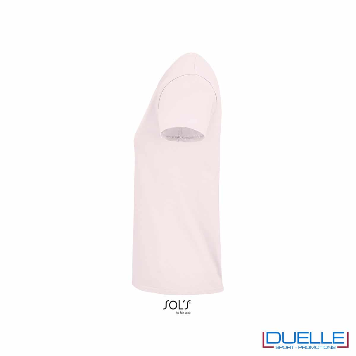 Lato maglietta rosa cotone femminile