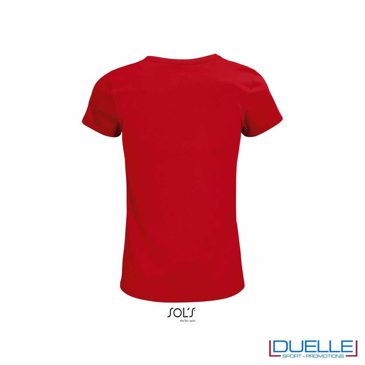 Back maglia donna rossa donna girocollo