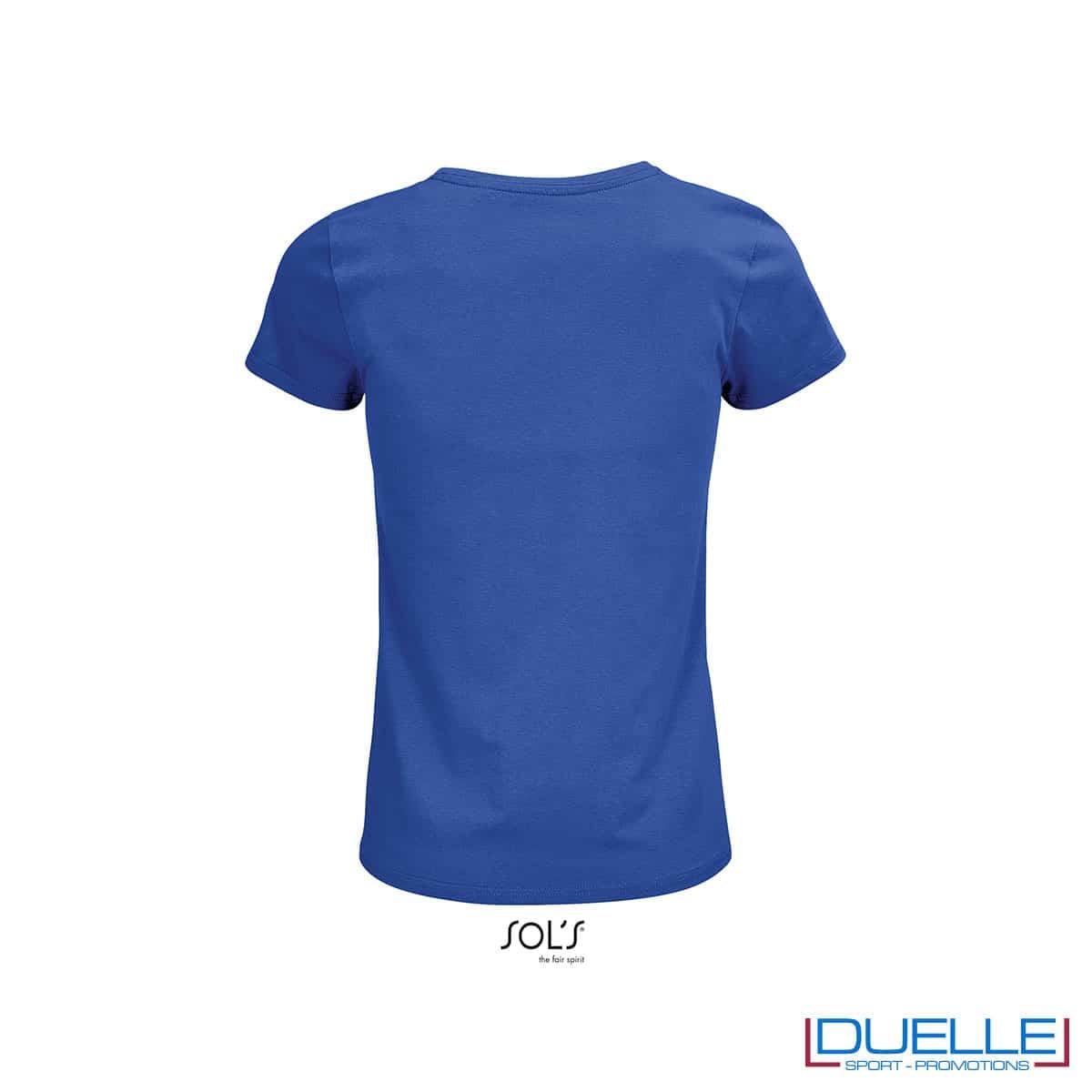 Retro maglia blu royal femminile girocollo