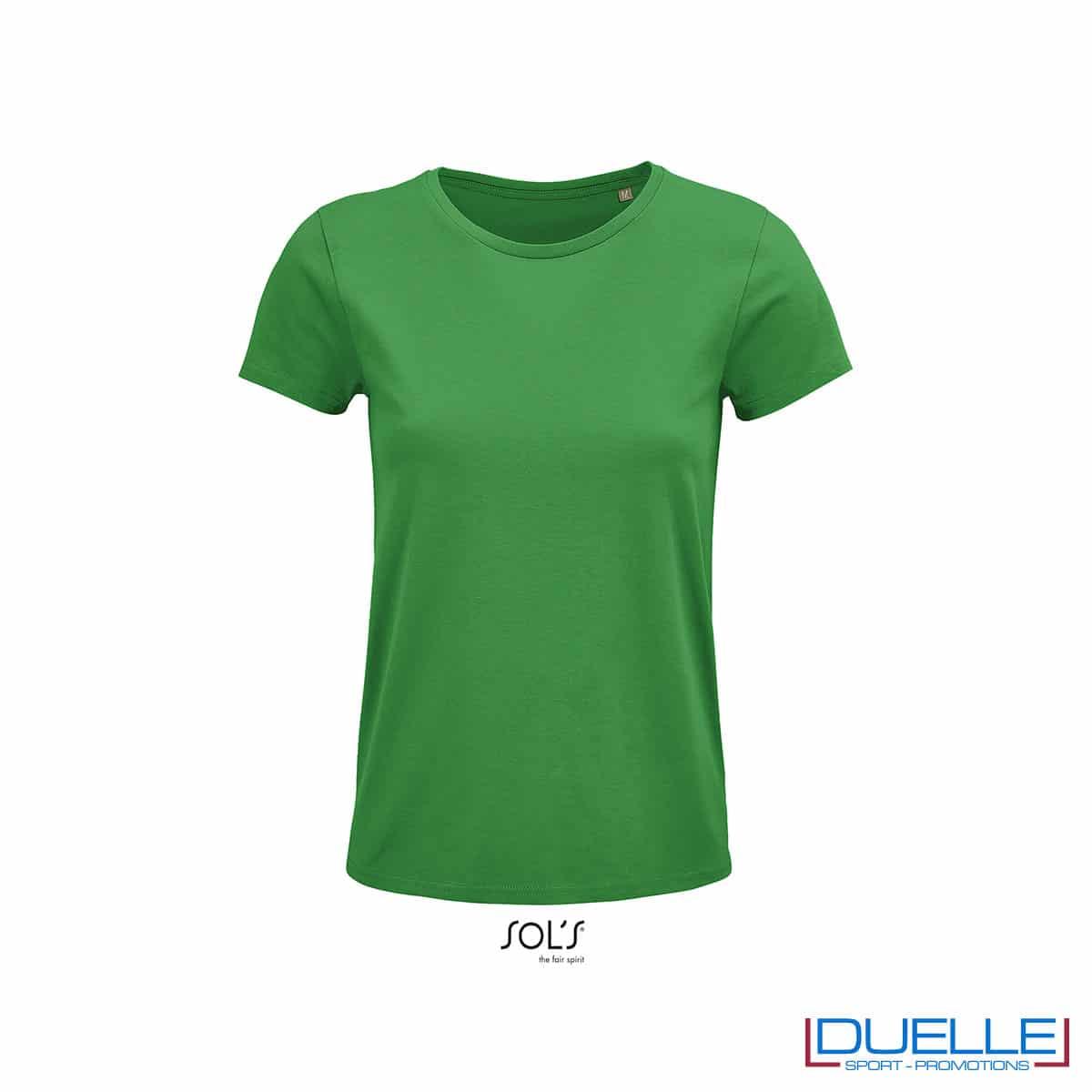 Maglia verde donna 100% cotone