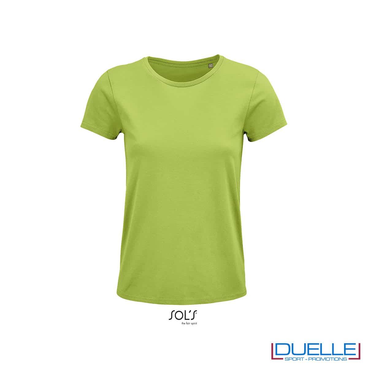 maglia donna verde mela 100% cotone