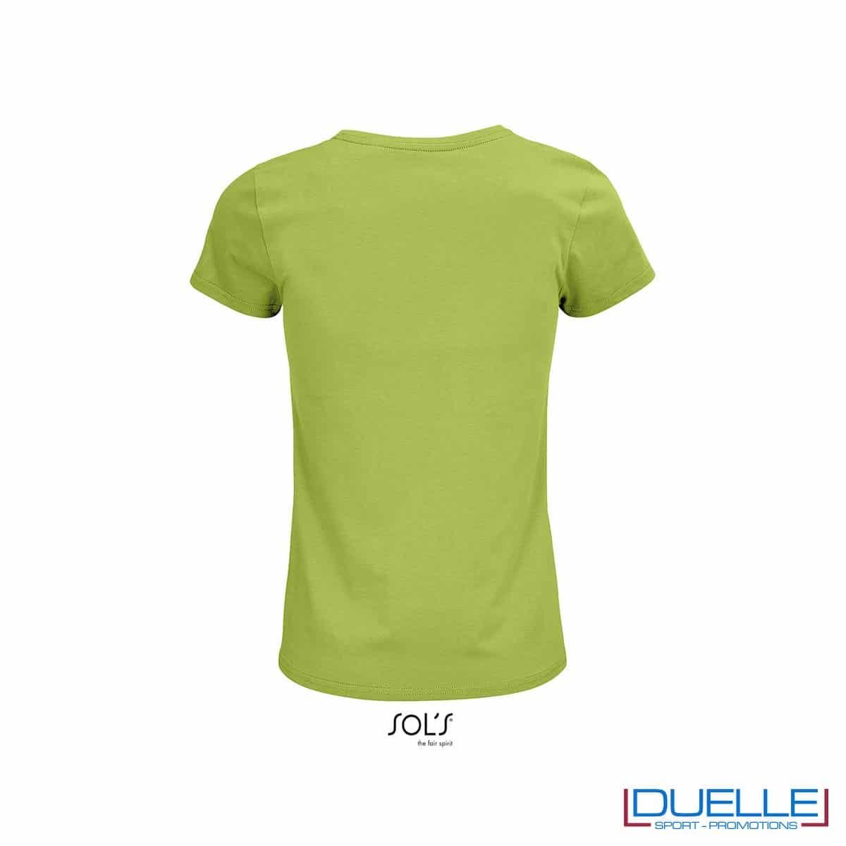 retro maglietta donna verde chiaro girocollo