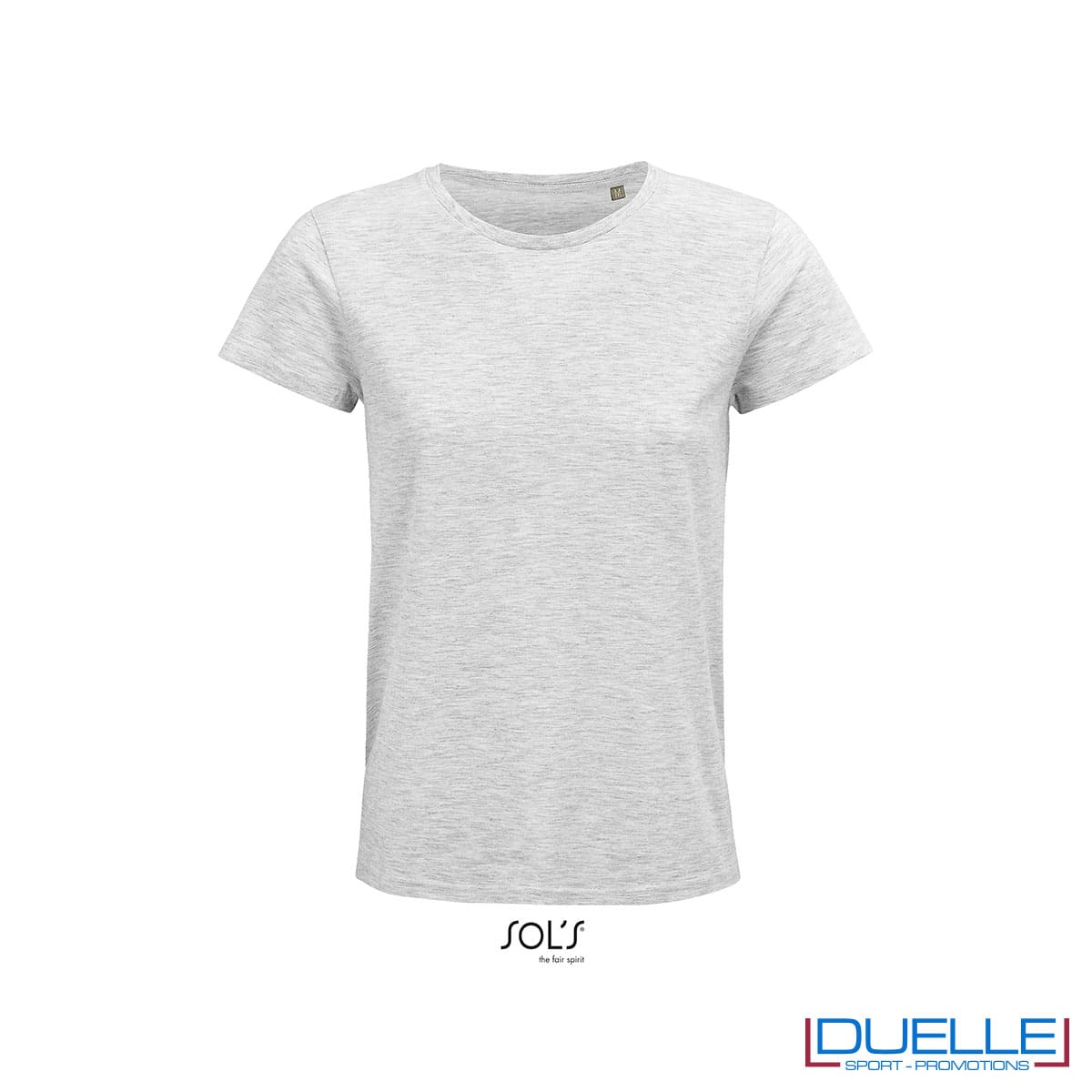 maglietta donna cenere girocollo