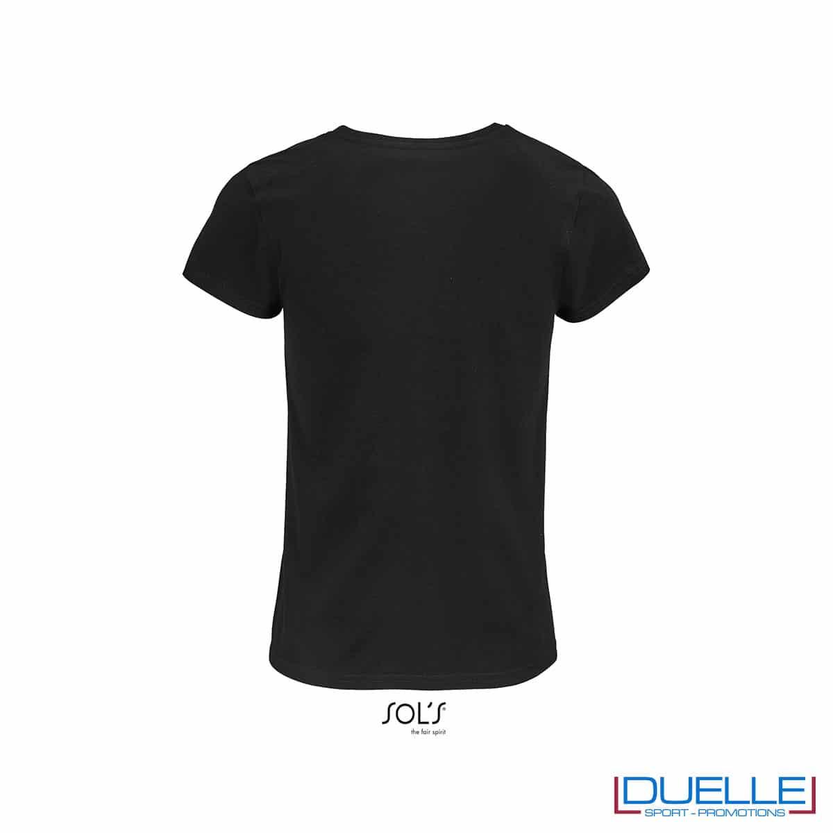 retro maglietta donna nero 100% cotone