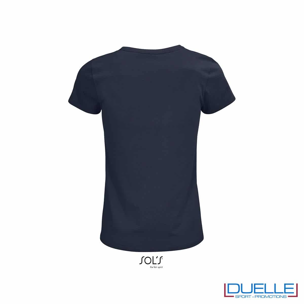 retro maglia girocollo femminile blu oltremare