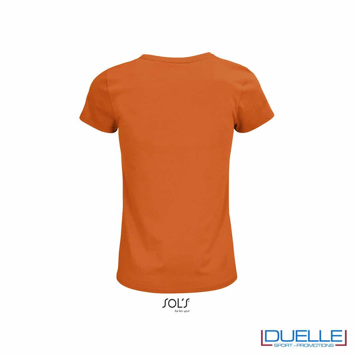retro maglia girocollo donna arancione