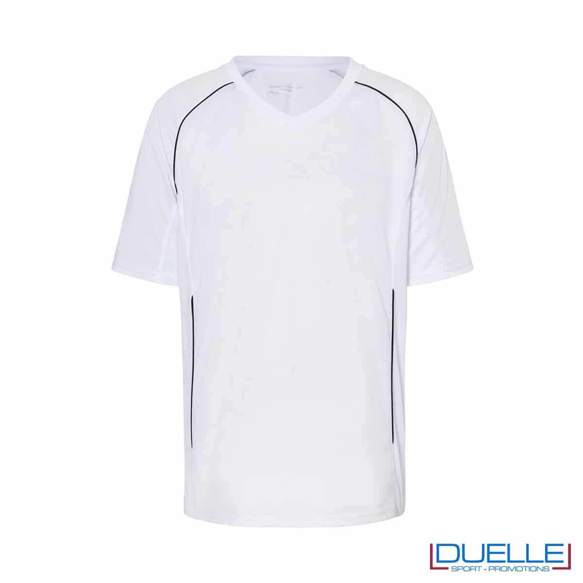 T-shirt calcio colore bianco personalizzabile