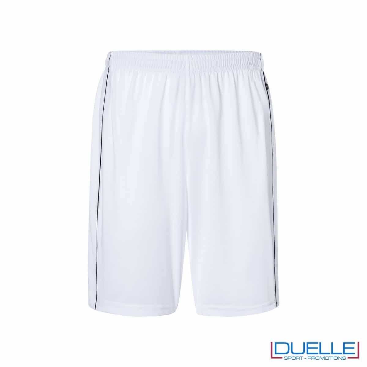 Pantaloncino calcio colore bianco promozionale