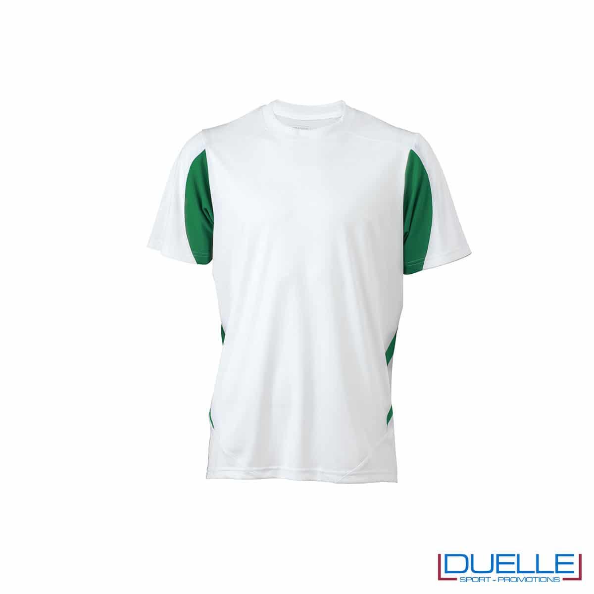 Maglia calcio colore bianco-verde promozionale