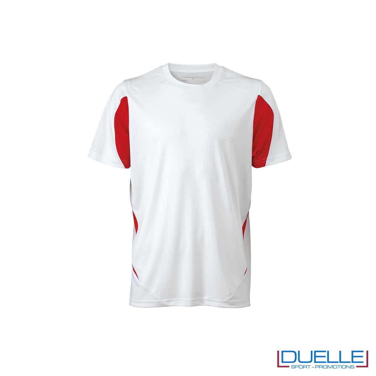Maglia calcio colore bianco-rossa promozionale