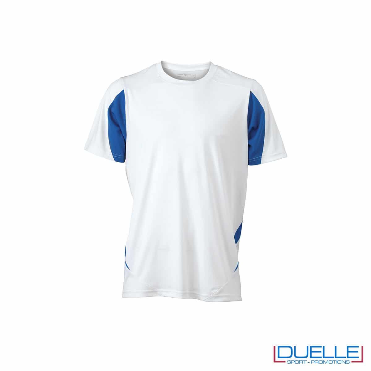 Maglia calcio colore bianco-blu navy promozionale