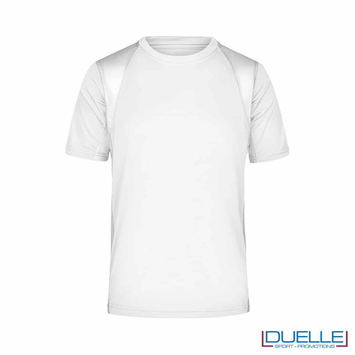 T-shirt running uomo personalizzata colore bianco
