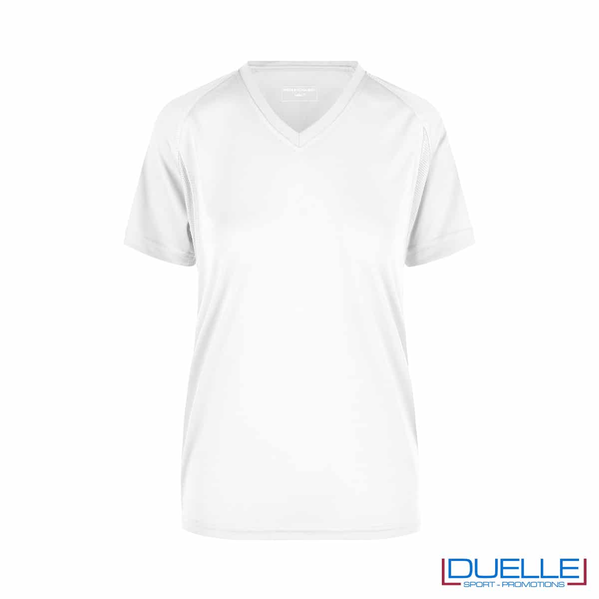 T-shirt running donna personalizzata colore bianco