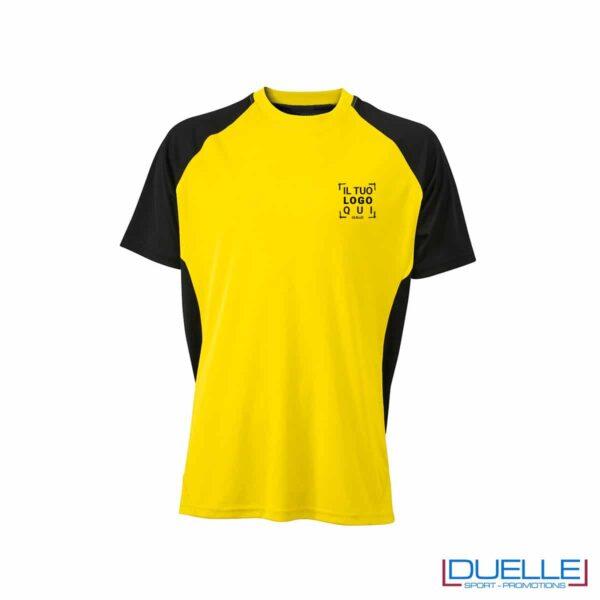 Maglietta calcio personalizzabile colore giallo-nero