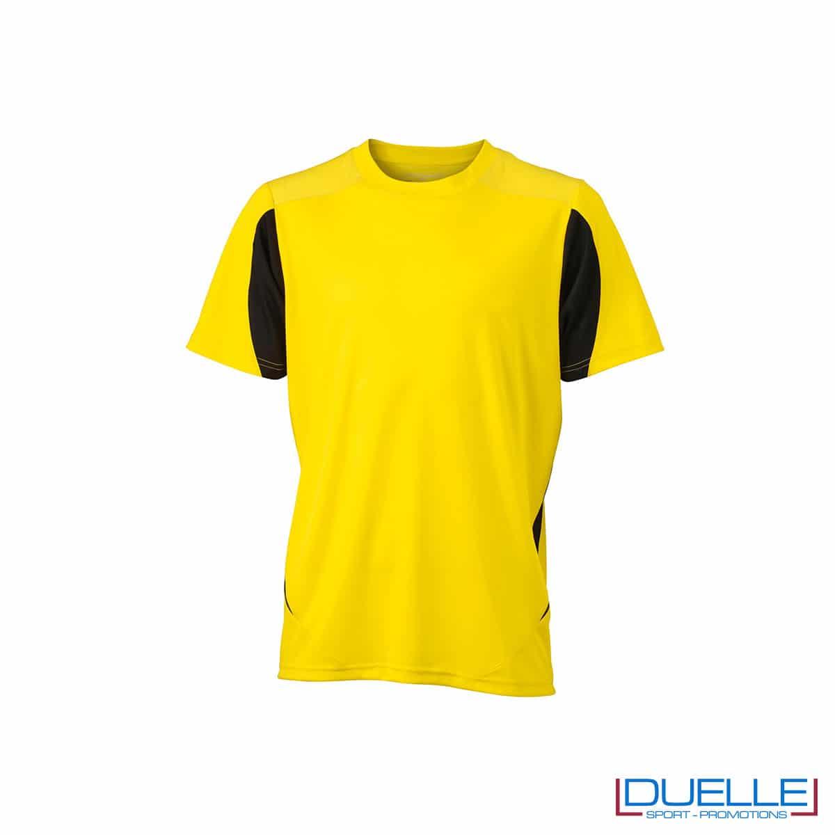 Maglia calcio colore giallo-nero promozionale