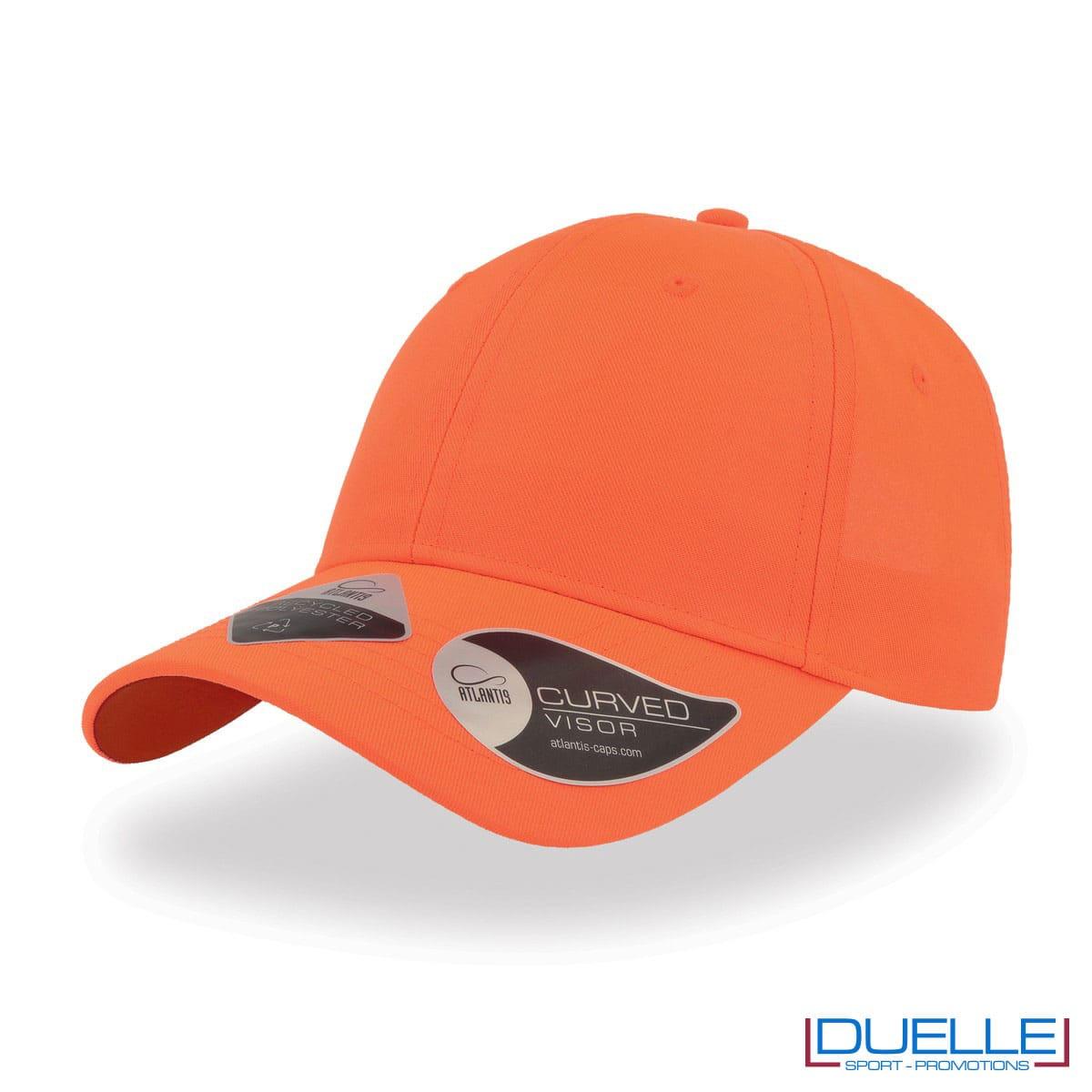 Cappello in R-PET con tecnologia NFC colore arancione personalizzato con ricamo