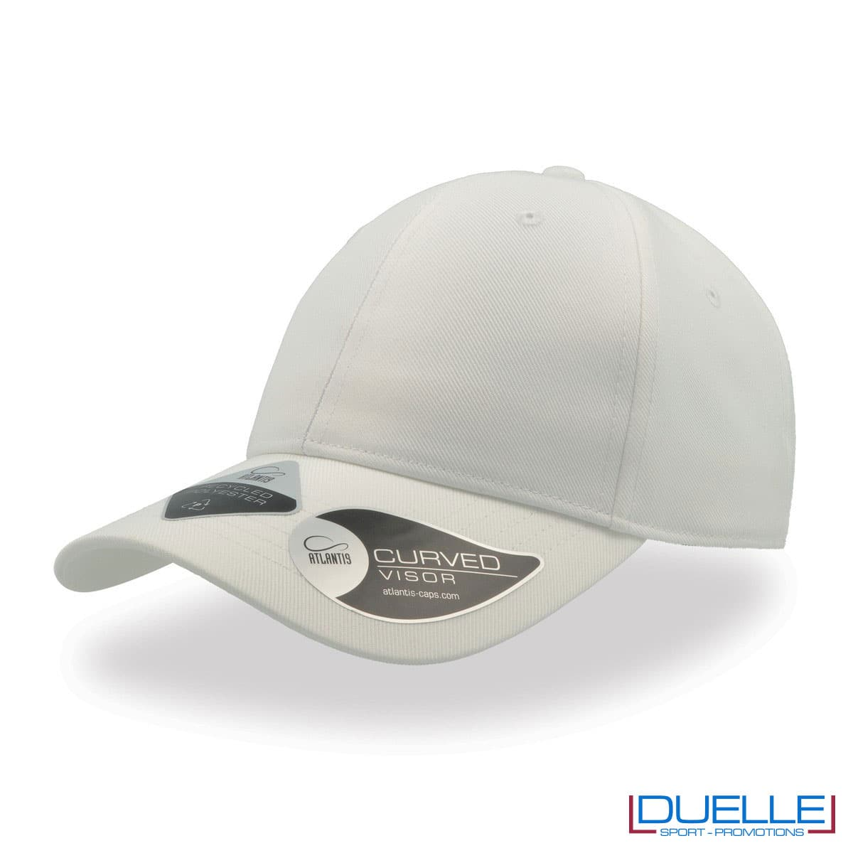 Cappello in R-PET con tecnologia NFC colore bianco personalizzato con ricamo