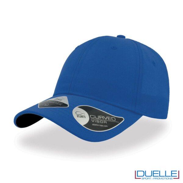 Cappello in R-PET con tecnologia NFC colore blu royal personalizzato con ricamo