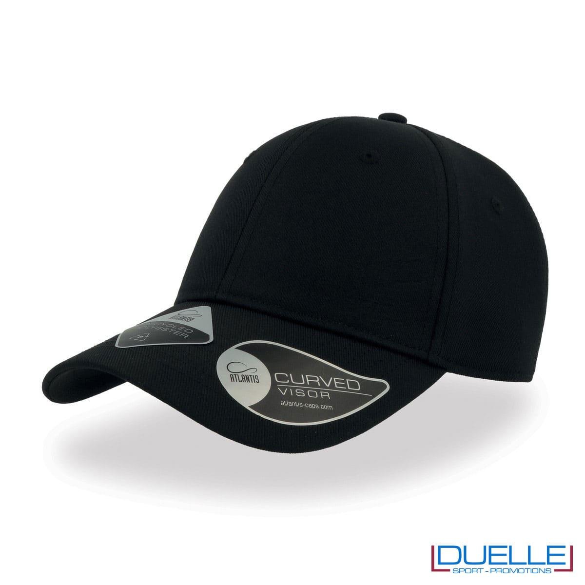 Cappello in R-PET con tecnologia NFC colore nero personalizzato con ricamo