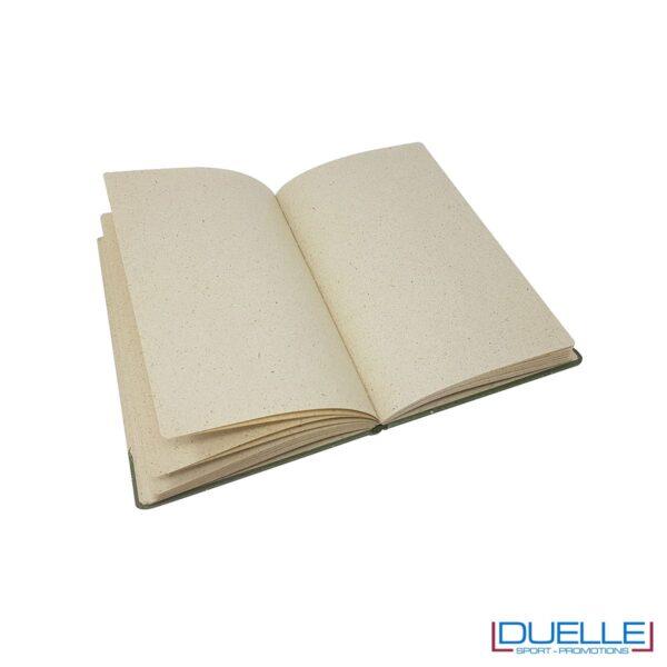 Pagine interne quaderno appunti in carta di erba essiccata personalizzabile